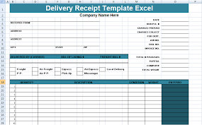 delivery receipt template excel delivery receipt sample receipt