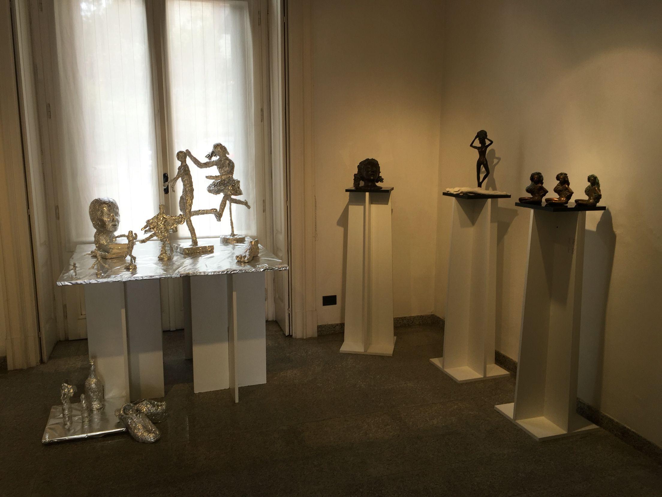 Esposizione 2 sculture e installazione