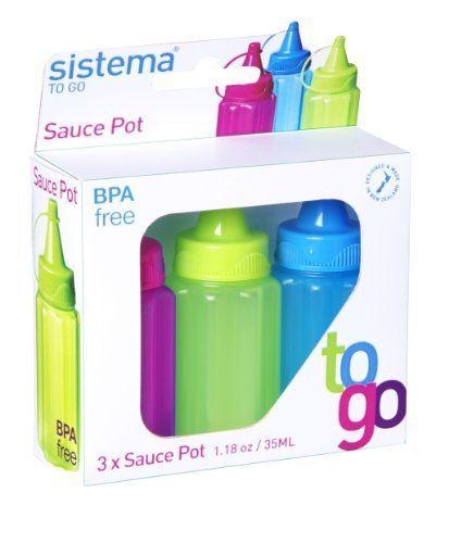 sistema ® Sauce To Go 35 ml Bottles by Sistema ® Plastics