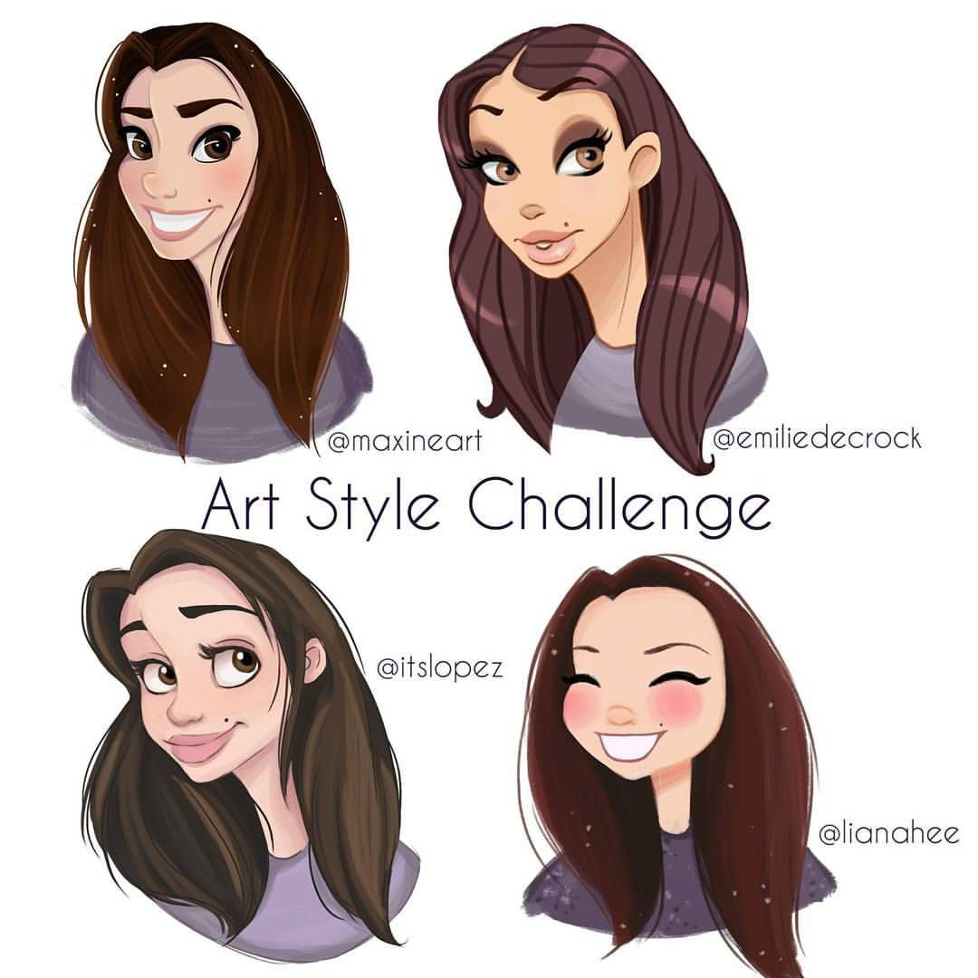 I took on the art style challenge where you draw yourself in your style of drawing then try out other artist styles i had so much fun with this im going