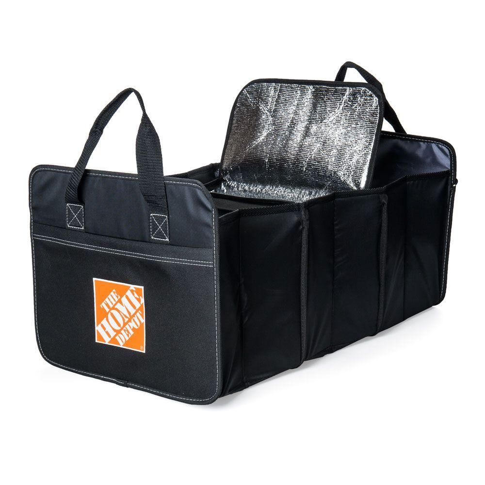 Grey Truck Minivan /& Auto,Vehicle Tools Grocery Organize Box Car Trunk Organizer with Insulation Cooler Bag : Washable-Large Capacity Foldable Multi-Compartments Cargo Storage for SUV