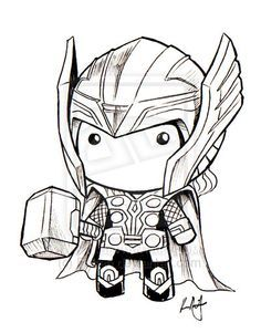Short Animated Avengers Drawing Google Search Thor Art Thor