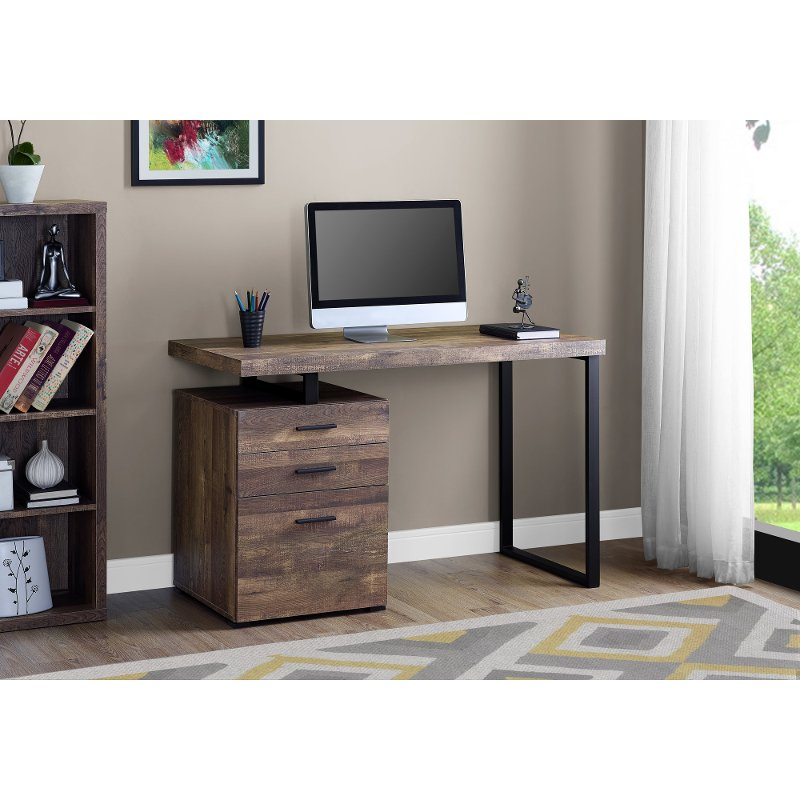 Brown And Black Metal Small Office Desk Small Office Desk Credenza Desks Cheap Office Furniture