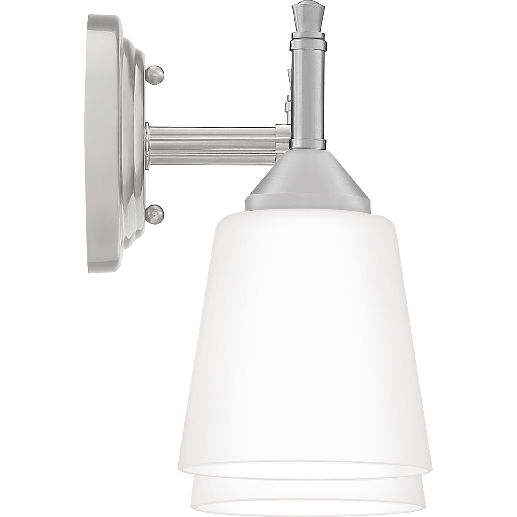 "Photo of Quoizel Billingsley 2-Light 14 ""washstand lamp made of brushed nickel"