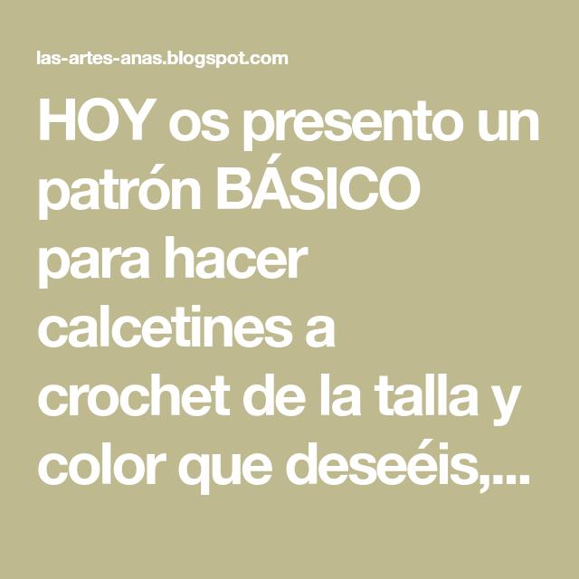 Lujo Patrón Básico De Punto Calcetín Imágenes - Ideas de Patrones de ...