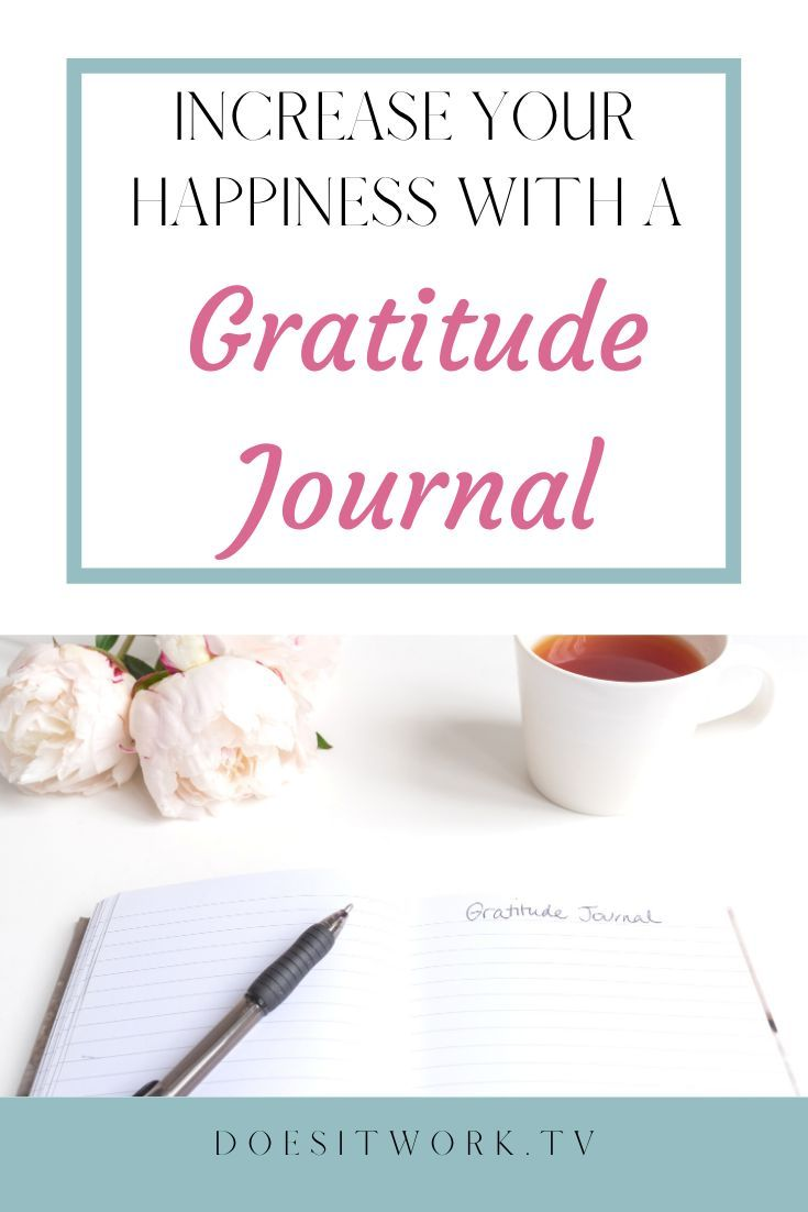 Increase Your happiness with a Gratitude Journal!