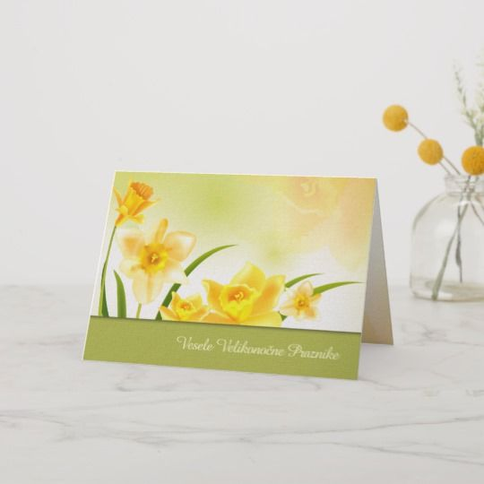 Vesele Velikonočne Praznike Slovenian Easter Cards | Zazzle.com