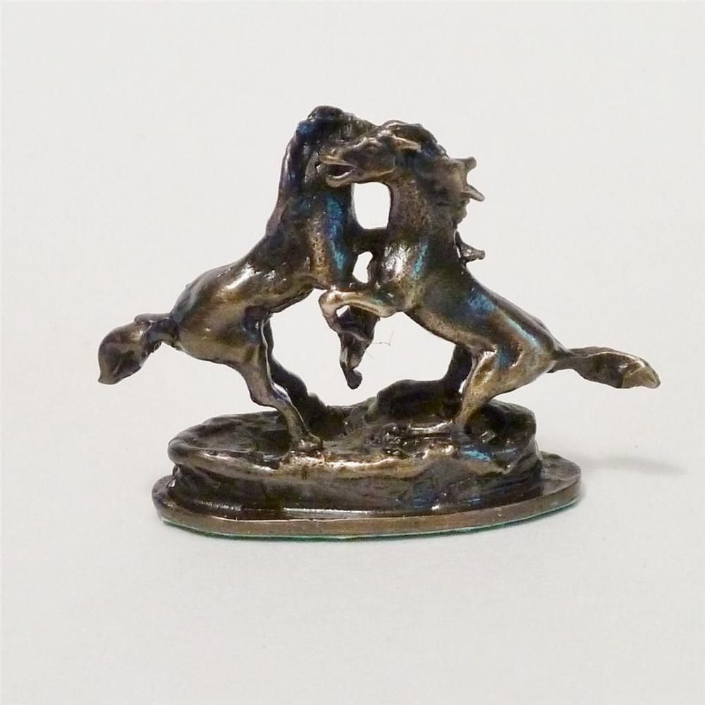 IGMA JOSEPH ADDOTTA 1:12 HANDCRAFTED BRONZE MINIATURE REARING HORSES SCULPTURE #AddottaCollection