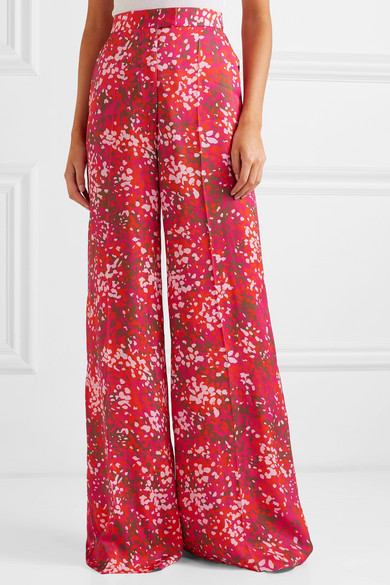 Photo of Stella McCartney – + Pantaloni larghi in crepe de chine stampati NET SUSTAIN