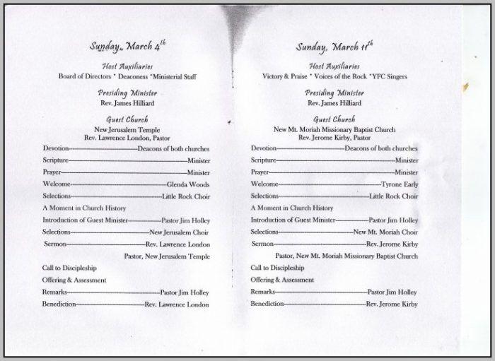 Anniversary Program Sample Pastor Anniversary Booklet