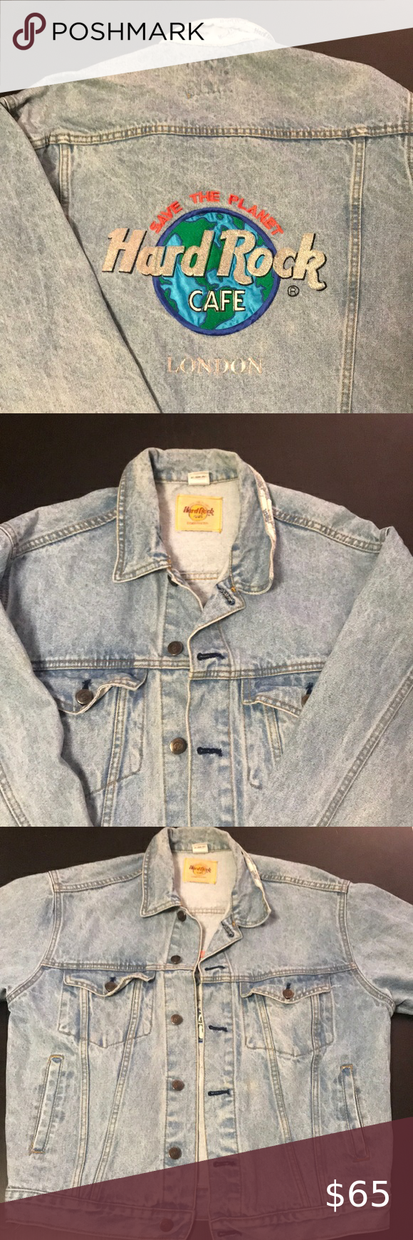 Vintage Hard Rock Cafe Jean Jacket Womens Medium Made In Taiwan 100 Cotton Excellent Condition No Rips Tears Or Jean Jacket Jean Jacket Women Hard Rock [ 1740 x 580 Pixel ]