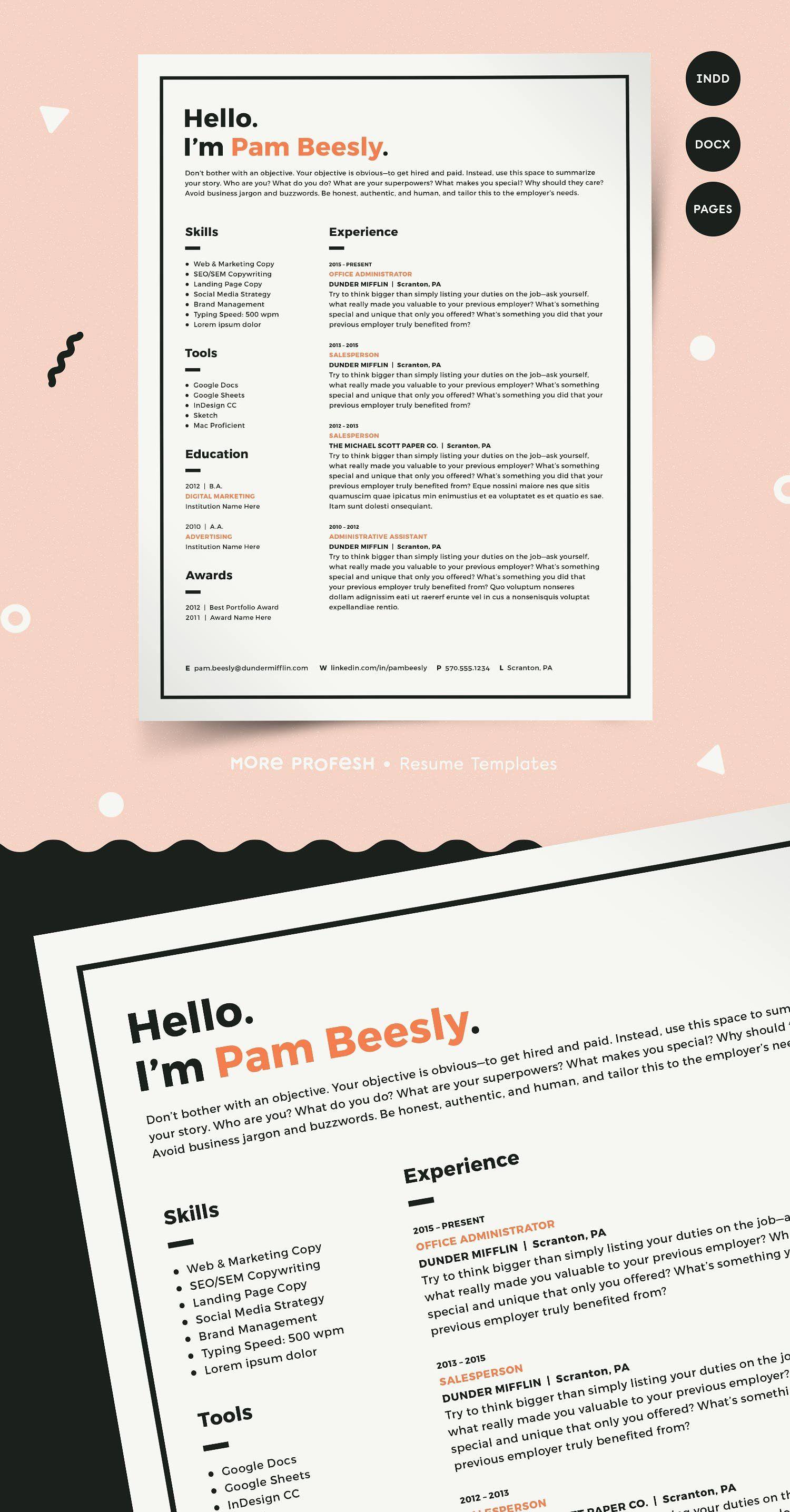2 page resume template cv template cv template