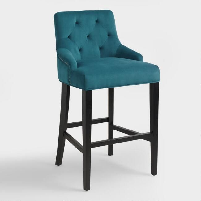 pacific blue lydia barstool  world market  bar stools
