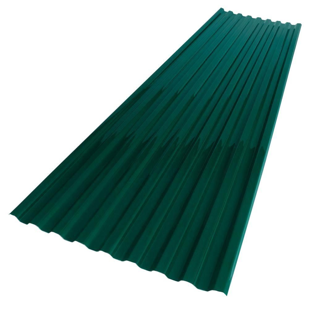 Suntuf 26 In X 6 Ft Hunter Green Polycarbonate Roof Panel 159858 The Home Depot Polycarbonate Roof Panels Roof Panels Corrugated Roofing