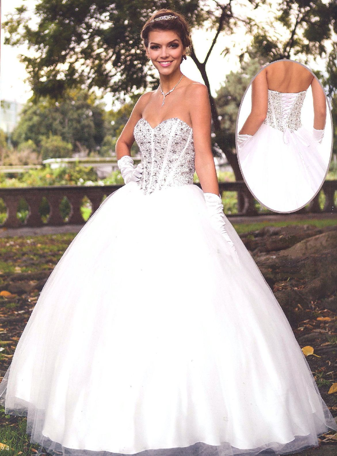 Wedding Dresses Cotillion DressesBR312BRSilver Rhinestone Bustier With Sweetheart