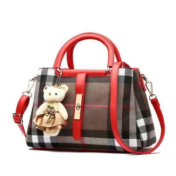 Tas Burberry Behel Lidah warna merah bag women branded