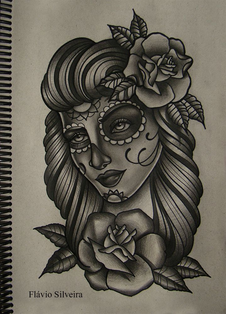 be048d4f2 mexican girl 5 by FraH on deviantART | Cute | Mexican tattoo, Girl tattoos, Tattoo  designs for girls