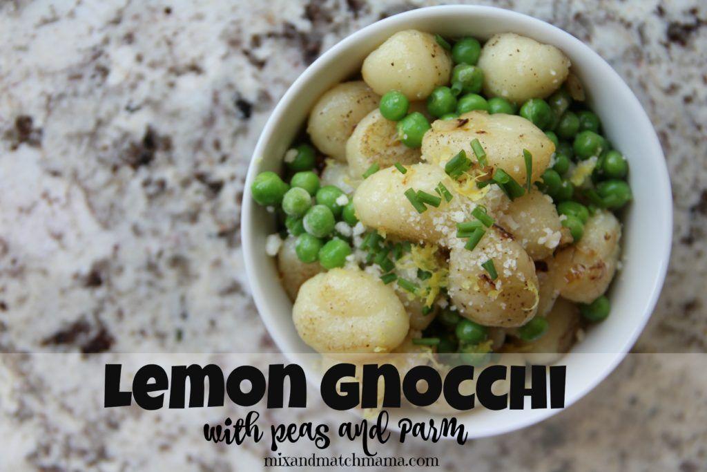 Lemon Gnocchi with Peas and Parm
