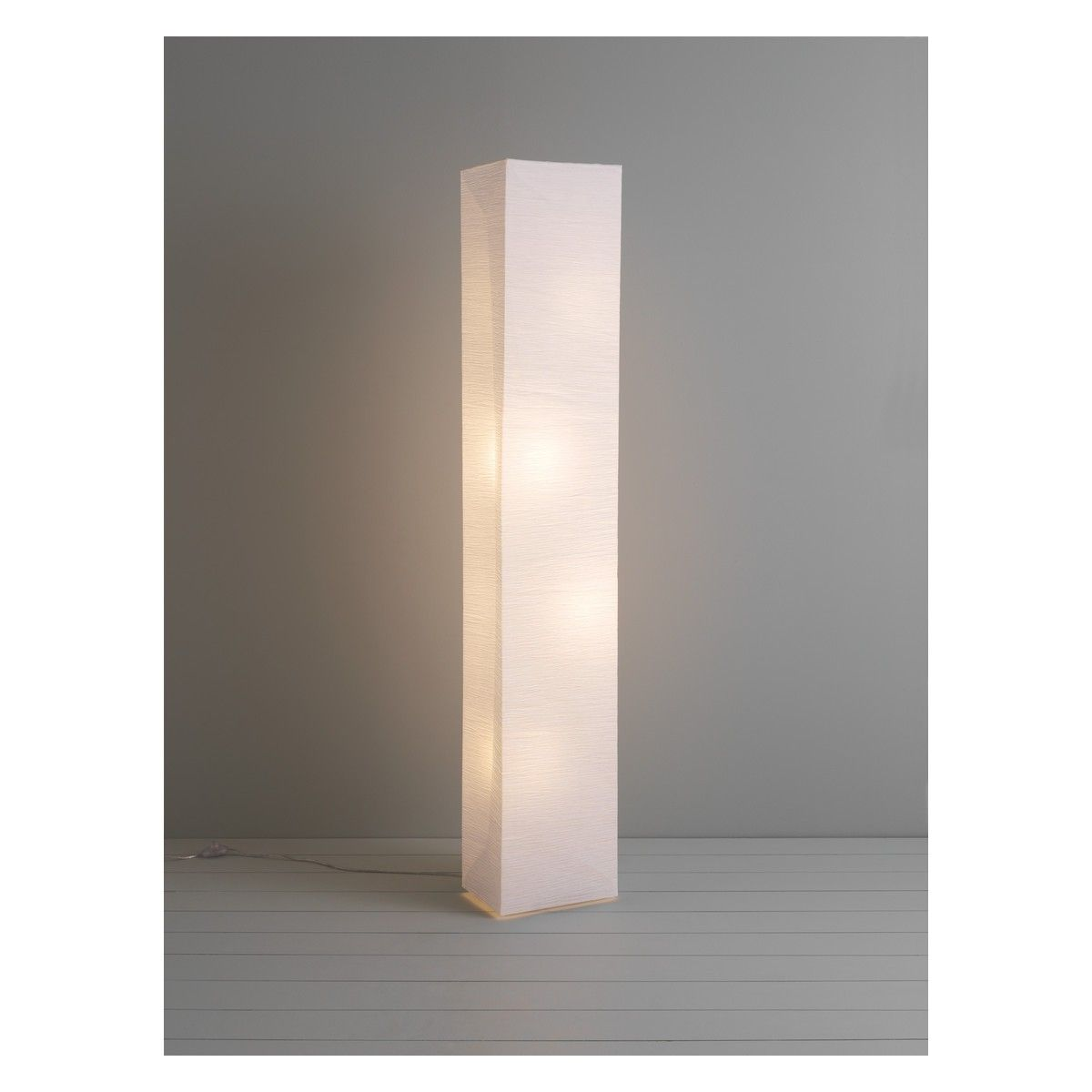 Square Paper White Crinkled Paper Floor Lamp Buy Now At Habitat