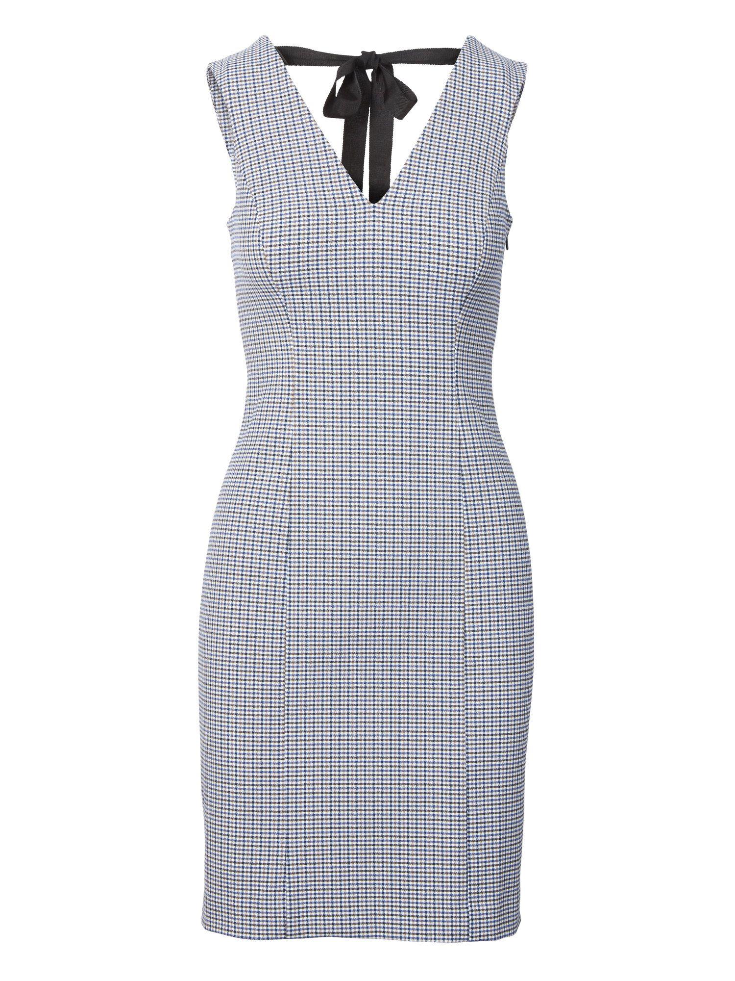 1905d6d9e7f19 Check Tie-Back Sheath Dress - Banana Republic