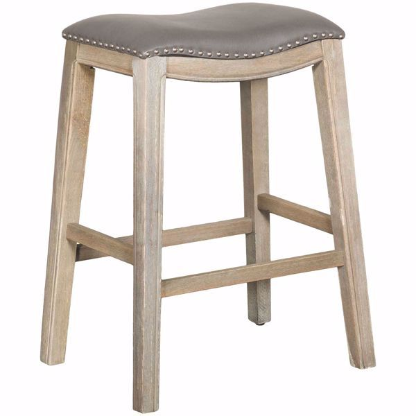 Ryland Grey 30 Padded Saddle Stool Saddle Stools Stool Upholstered Seating