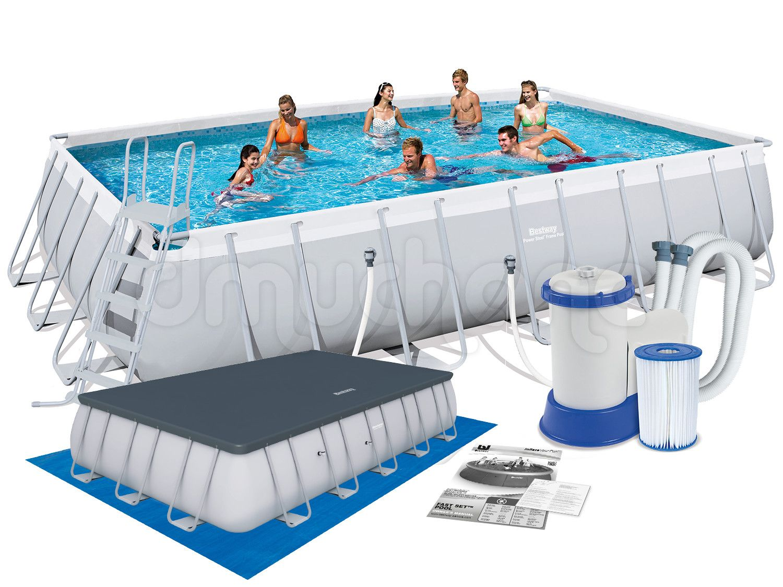 Basen Ogrodowy Stelazowy 671 X 366 X 132 Cm 6w1 Bestway 56272 56470 Bestway Pool Outdoor Decor