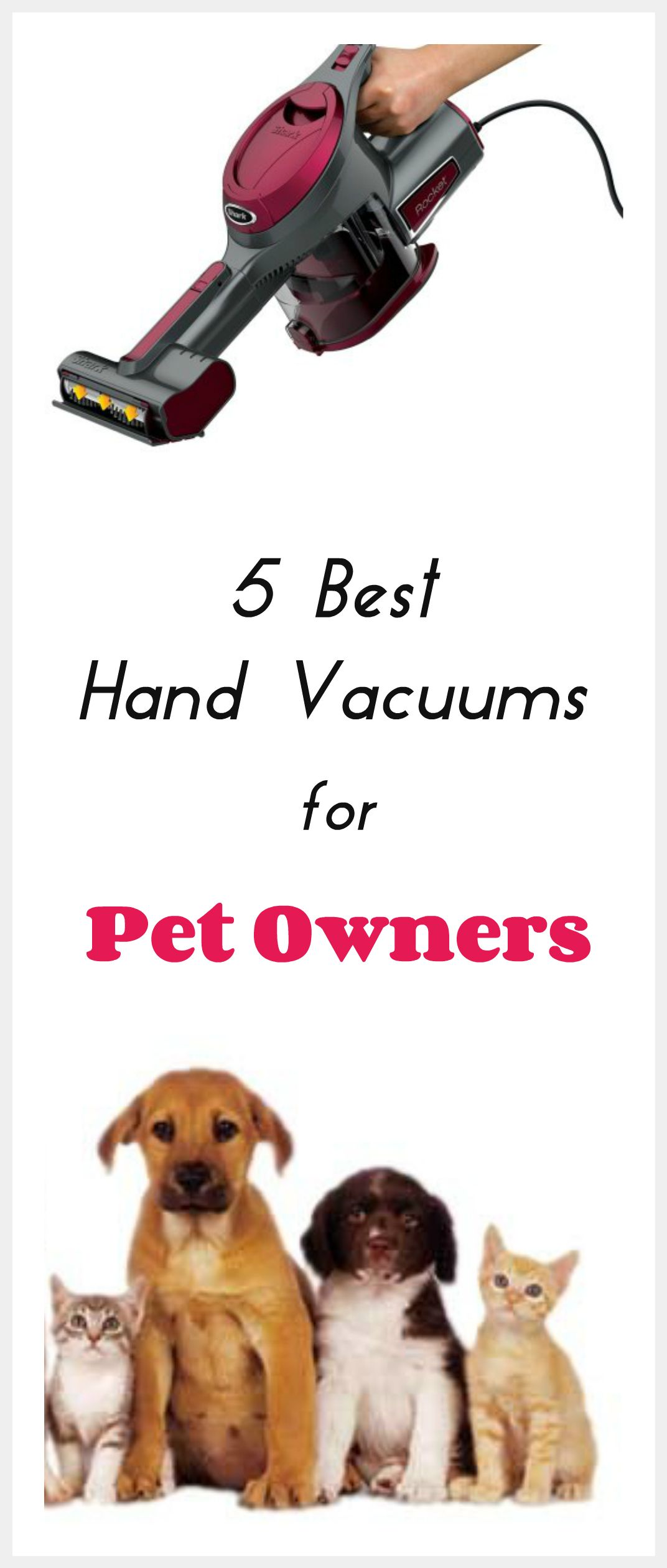 5 Best Handheld Vacuum Cleaners For Pet Owners Best