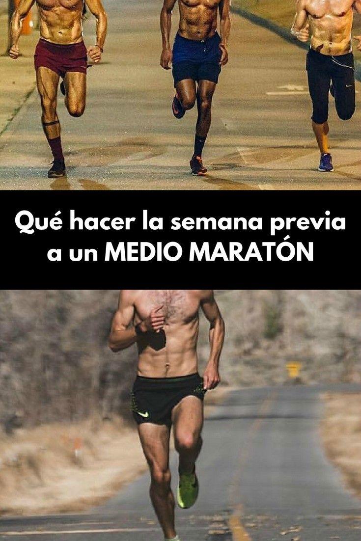 Dieta semana previa media maraton