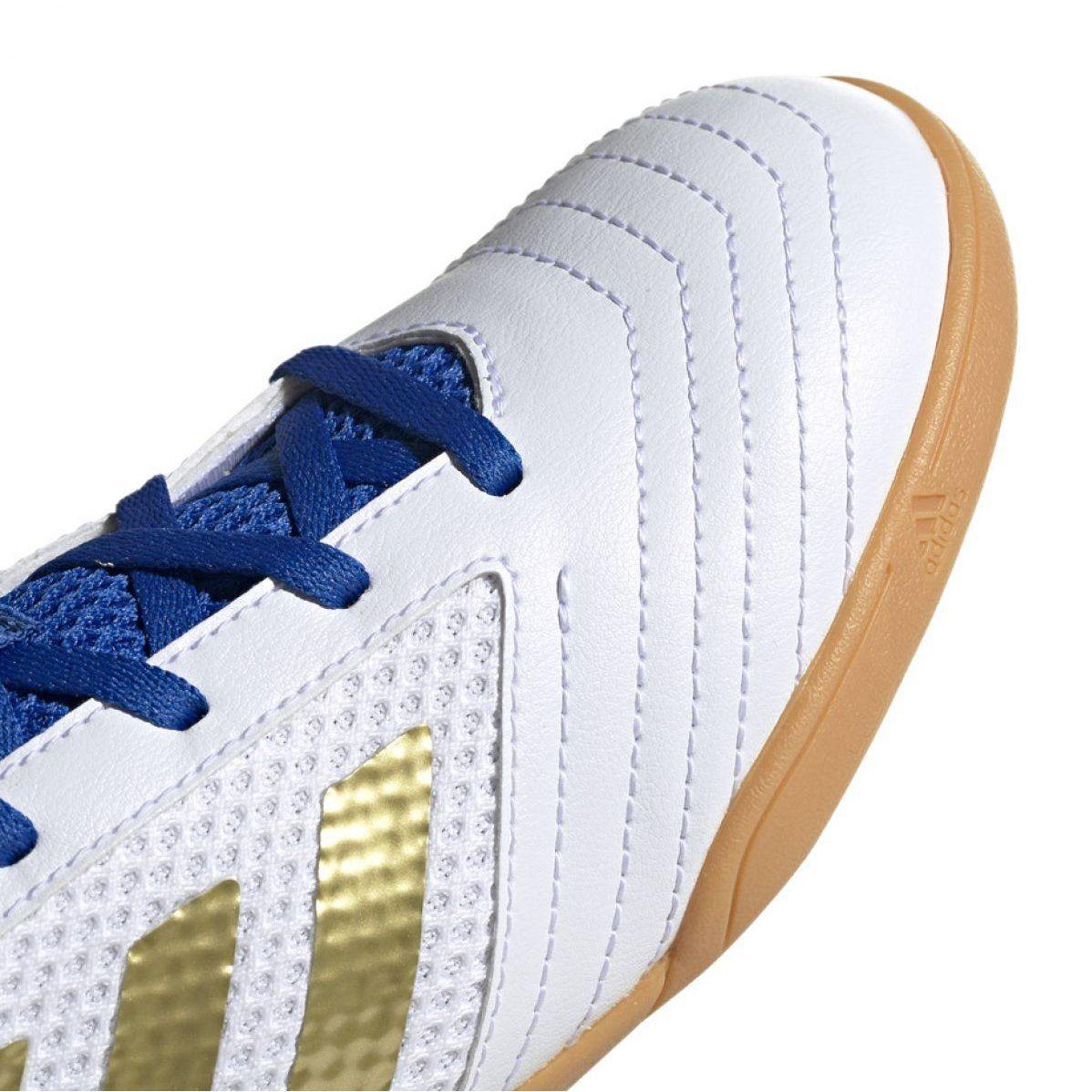 Adidas Predator 19 4 In Sala Jr Eg2829 Indoor Shoes White White Adidas Predator Indoor Shoe Football Shoes