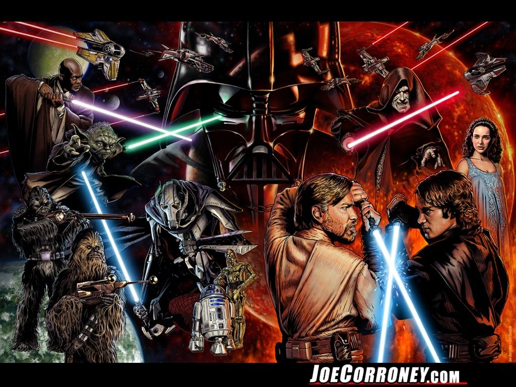 The Star Wars Saga By Joe Corroney Star Wars Wallpaper Star