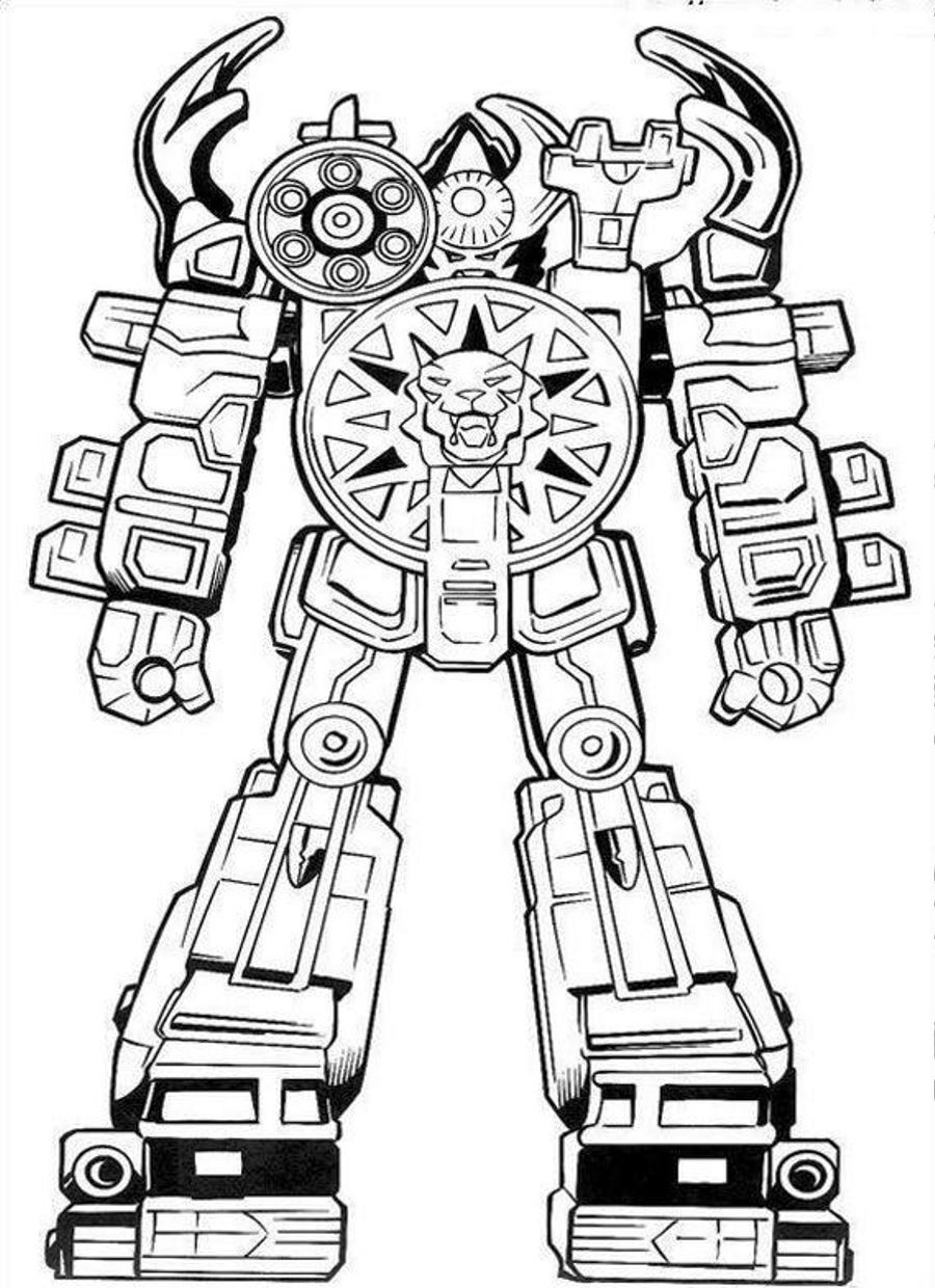Robot Coloring Pages Robots Theme Pinterest Power Rangers