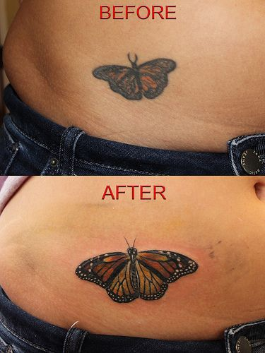 42167aebe3c77 butterfly tattoo cover up by Mirek vel Stotker | Tattoos | Butterfly ...