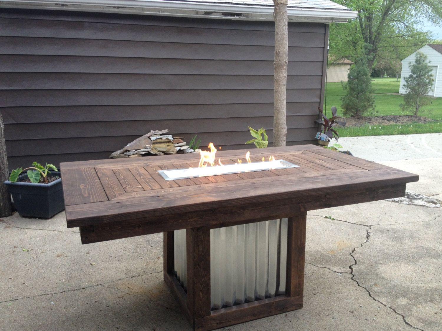 Outdoor Fire Pit Table By Jaycidesigns On Etsy, $950.00 Part 80