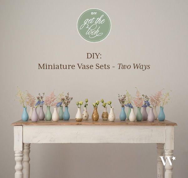 Diy Wedding Wednesday Pattern Play Mini Vase Sets Inspire My
