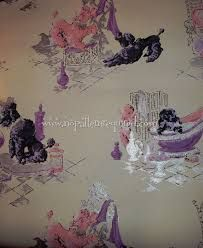 1960s  poodle wall paper. Mine was a bit more pastel.