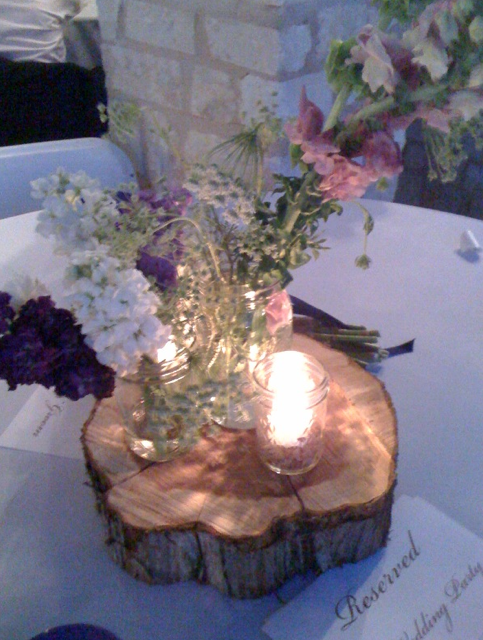 Wood Log Centerpieces for Weddings CATEGORIES: weddings Rustic wedding centerpieces Wedding