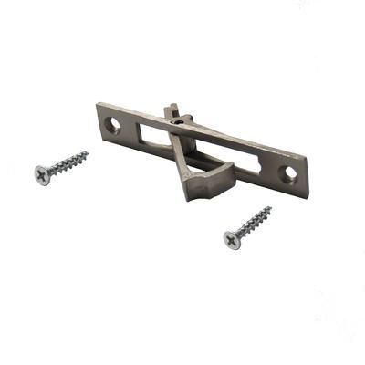 Alexandria moulding pocket door edge pull satin nickel for Double pocket door home depot