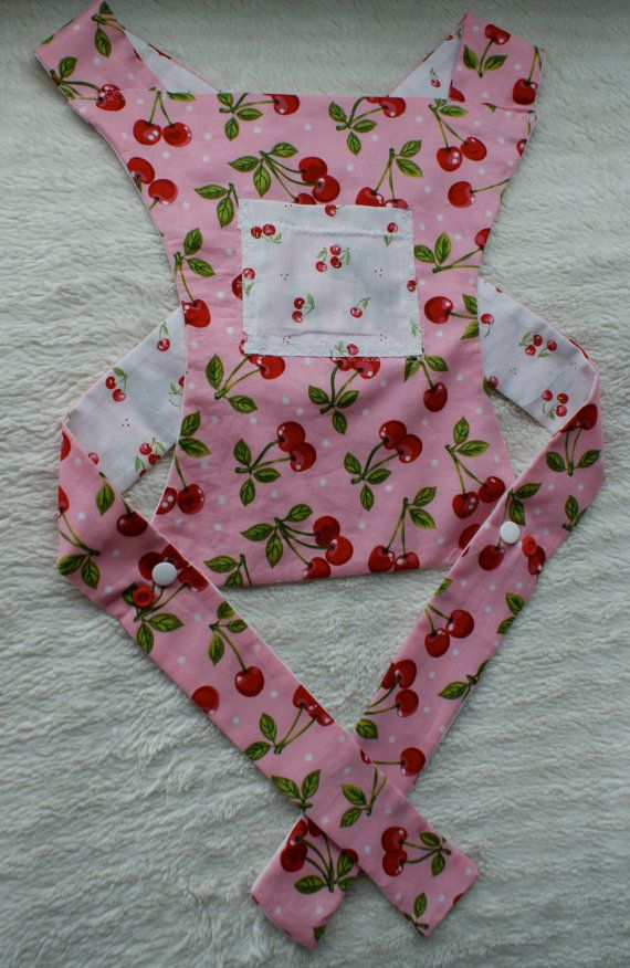 Reversible doll carrier with cherry pattern cotton by SewandSteady ...