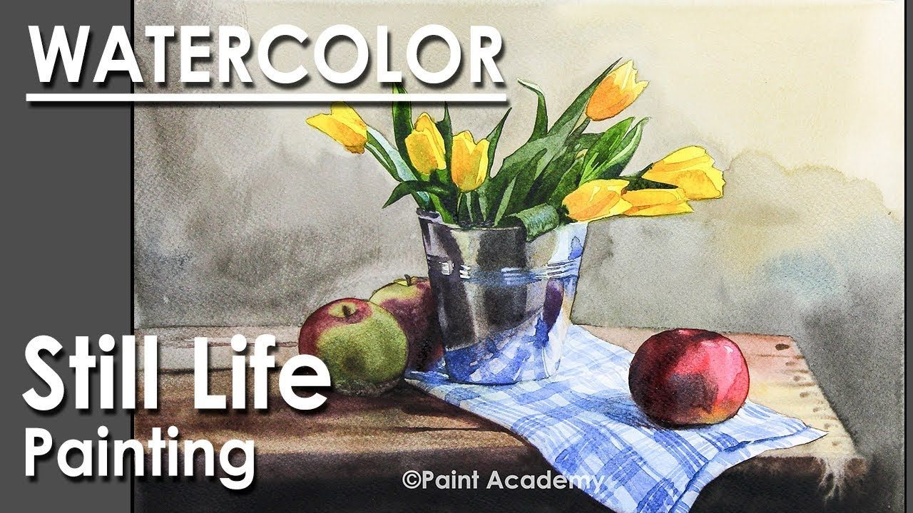 Painting A Realistic Still Life In Watercolor Flower Vase