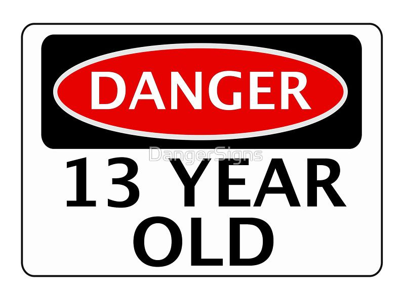 Danger 13 Year Old Fake Funny Birthday Safety Sign Greeting Card