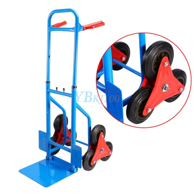 200kg Heavy Duty 6 Wheels Stair Climber Climbing Sack Truck Trolley Cart Folding Stair Climber Stair Climbing Folding Cart