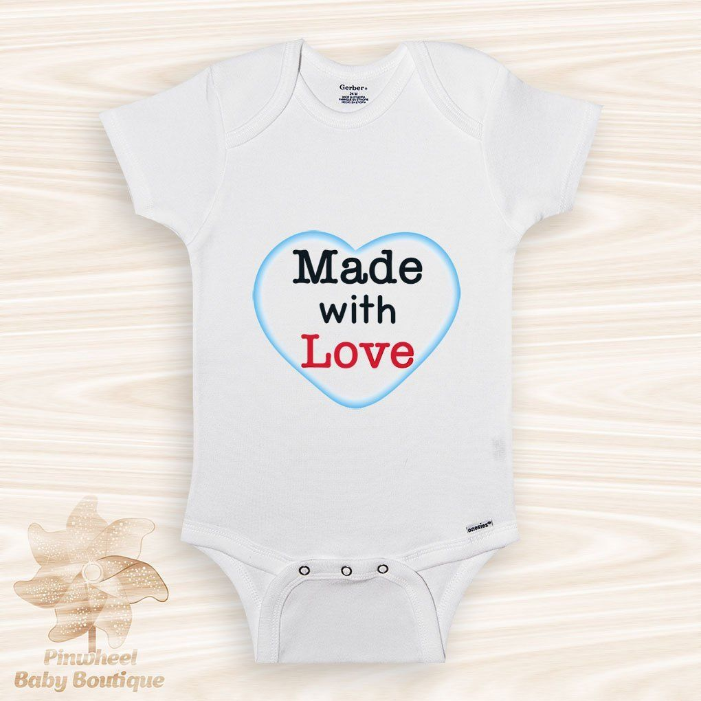 729ac4e35eb  etsy shop  Made with Love Onesie® Love Baby Onesie
