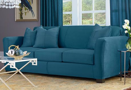 Ultimate Stretch Suede Four Piece Sofa Slipcover Form Fitting