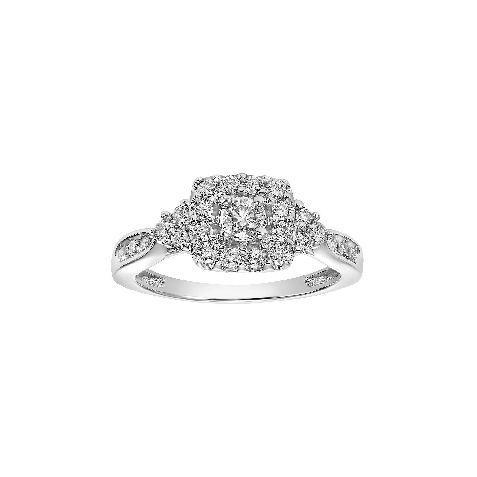 pin i center engagement square diamond cut halo love rings round ring my