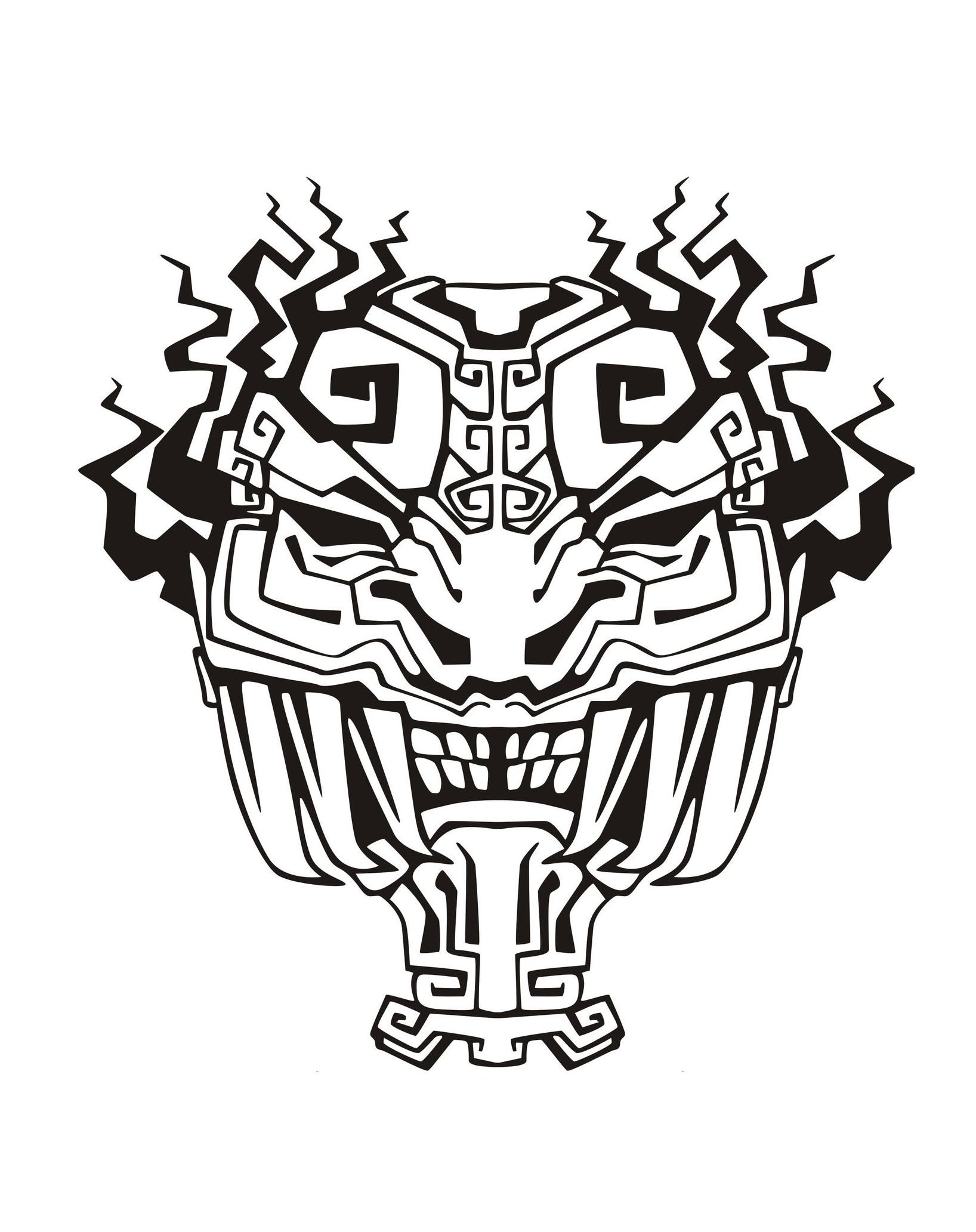 Mask Inspired By Aztecs Mayans And Incas