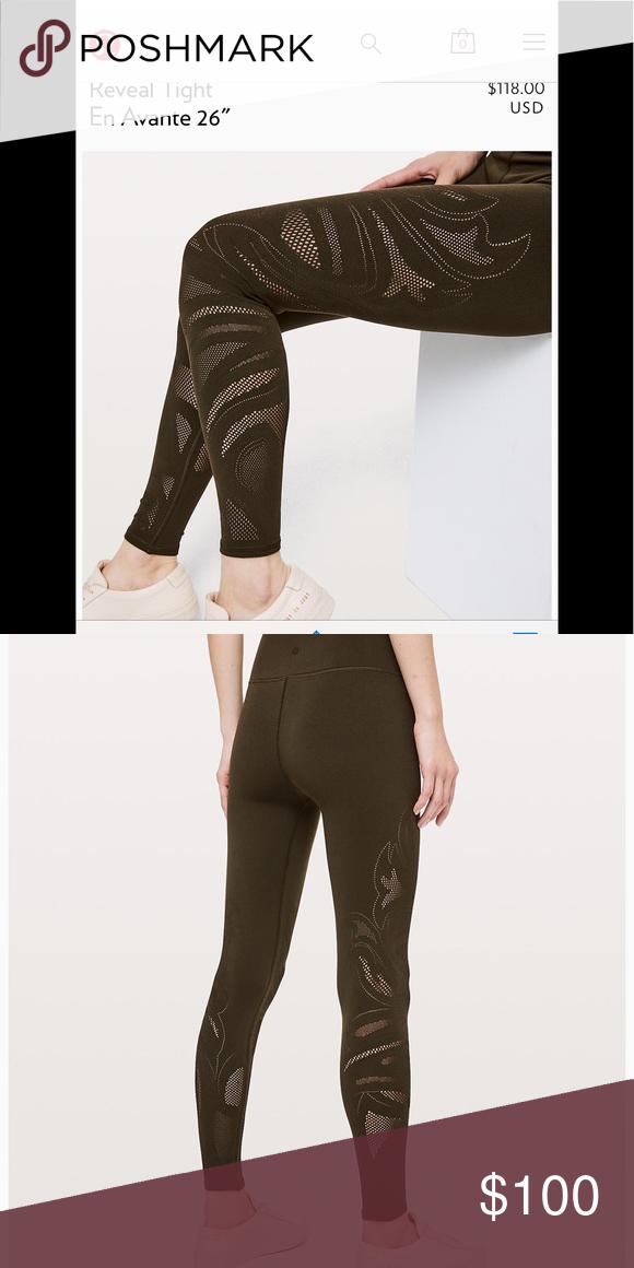 "4177aa9597 Lululemon Reveal Tight En Avante 26"" Lululemon Reveal Tight En Avante  26""size 8 lululemon athletica Pants Leggings"