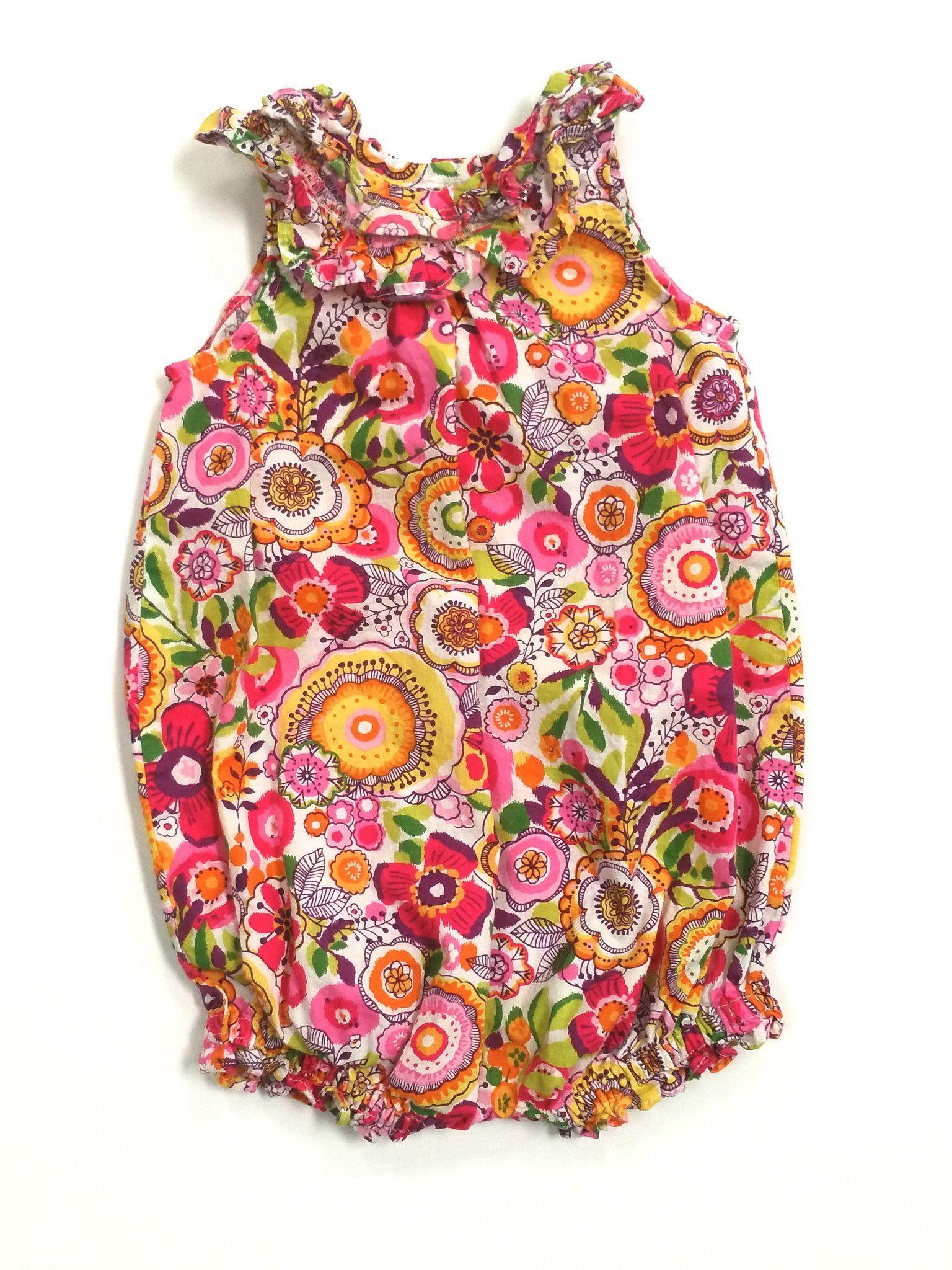 Vera bradley shower curtain - Vera Bradley Baby Floral Bubble Romper 6 9m