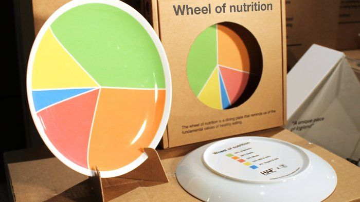 Wheel of Nutrition Plate....with details on the back to eat healthy.