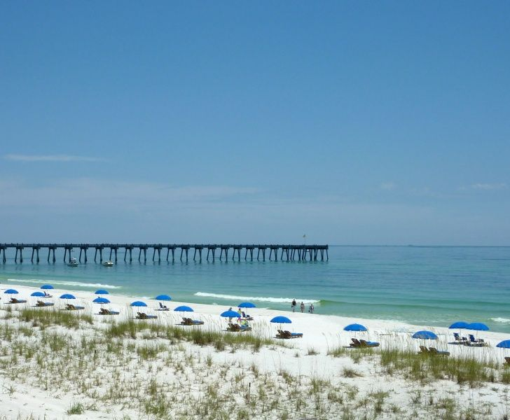 View Of The Gulf Pier From Jimmy Buffett S Margaritaville Hotel In Breeze Pensacola Beach