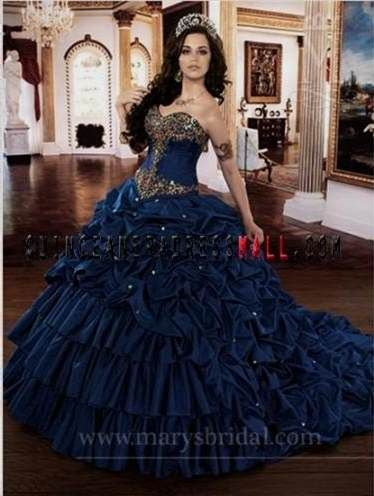 656910f1fd Nice navy blue and gold quinceanera dresses 2017
